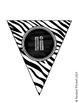 Zebra Print Alphabet Pennant Flags