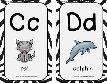 Zebra Print Alphabet Posters