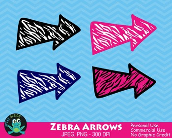 Zebra Print Arrows {Upzaz Digital Clipart}
