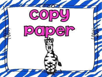 Zebra Print Back to School Night Posters