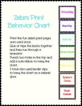 Zebra Print Behavior Chart