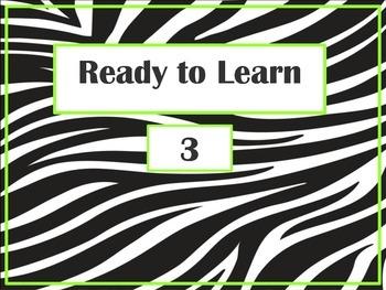 Zebra Print Behavior Management Clip Chart