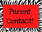 Zebra Print Behavior Poster Color