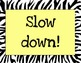 Zebra Print Behavior Poster Color