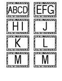 Zebra Print Book Bin Labels