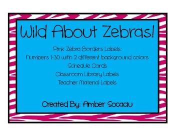 Zebra Print Border Labels