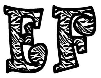 Zebra Print Bulletin Board Letters
