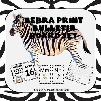 Zebra Print Bulletin Board Set