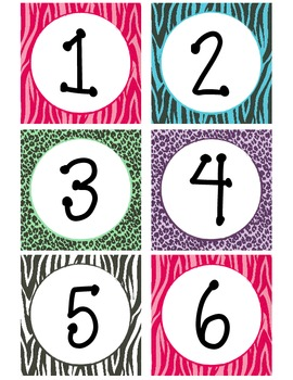 photo about Free Printable Calendar Numbers referred to as Zebra Print Calendar Figures