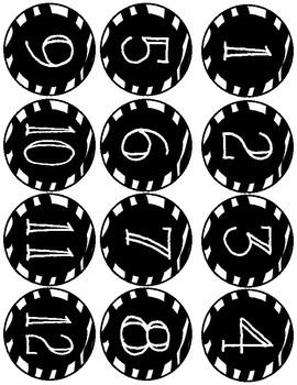 Zebra Print Calendar Set