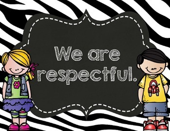 Zebra Print & Chalkboard Rule Posters- Customized for you!