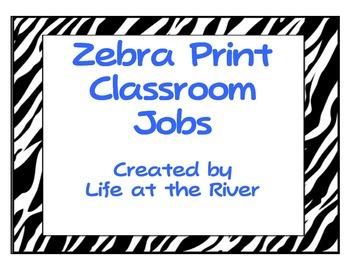 Zebra Print Class Jobs