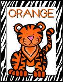 Zebra Print Classroom Color Posters