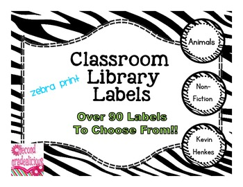 Zebra Print Classroom Library Labels