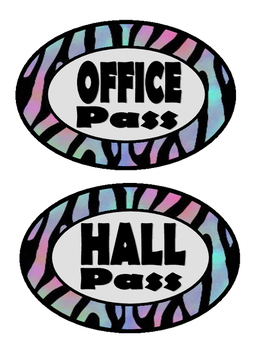 Zebra Print Classroom Passes