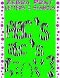 Alphabet Letters Clipart - Zebra