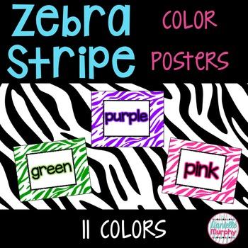 Zebra Print Decor Color Posters