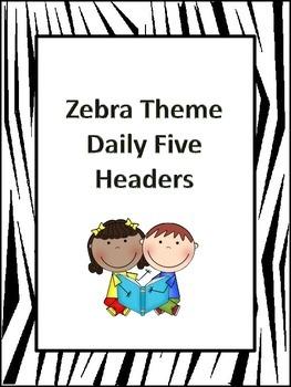 Zebra Print Daily Five Headers