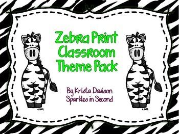 Zebra Print Decor Pack
