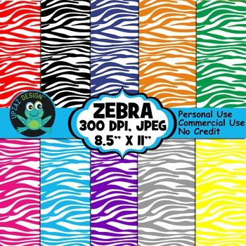 Zebra Print Digital Paper