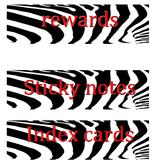 Zebra Print Drawer Labels