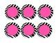 Zebra Print Jungle Calendar Numbers 1-100 in neon pink, gr