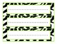 Zebra Print Jungle Name Tag Deskplates Mega Pack (over 30