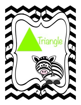 Zebra Print Jungle Shape Posters, 8 in total