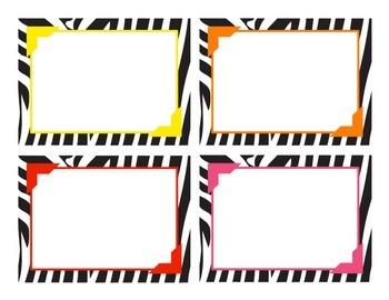 Zebra Print Label Templates