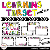 Learning Target Posters - Editable