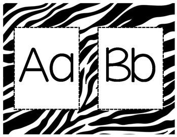 Zebra Print Letters