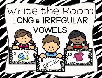 Long and Irregular Vowel Sounds Write the Room