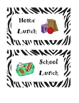 Zebra Print Lunch Count