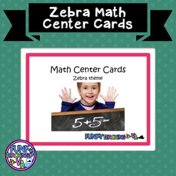 Zebra Print Math Centers