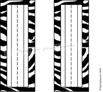 Zebra Animal Print Name Plates