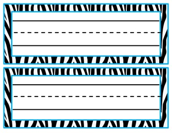 Zebra Print Name Tag Freebie