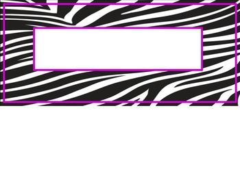 Zebra Print Nametag Labels