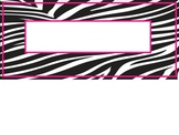 Zebra Print Nametag Labels