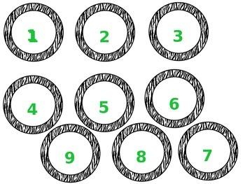Zebra Print Numbers