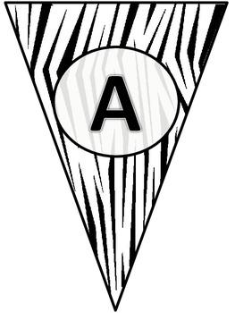 Zebra Print Pennant Banner
