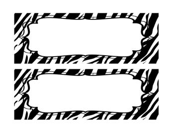 Zebra Print Schedule Cards FREEBIE