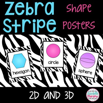 Zebra Print Decor 2D and 3D Shape Posters