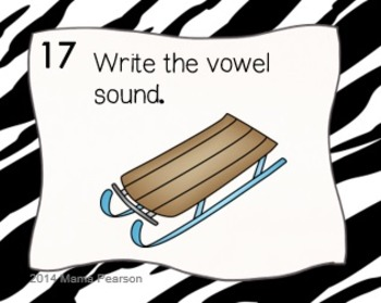 Short Vowel Sounds Task Cards