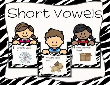 Short Vowel Sounds Task Cards