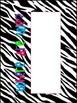 Zebra Print Where Are We? Sign