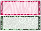 Zebra Print Word Wall Blank Template