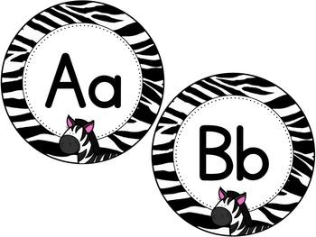 Zebra Print Word Wall Headers