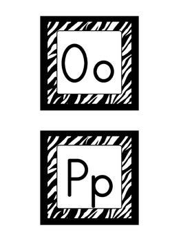 Word Wall Headers: Zebra Print