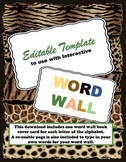 Zebra Print Word Wall cards