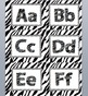 Zebra Print Word Wall cards